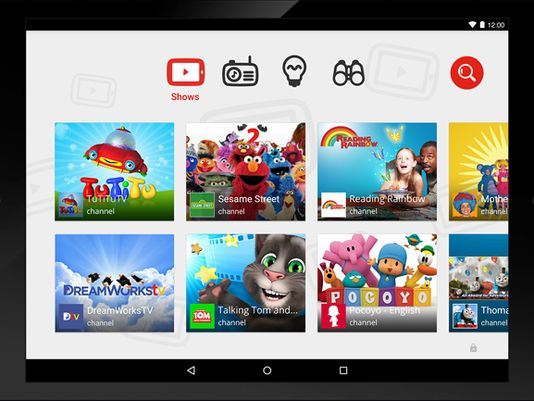 Youtube-Kids-home