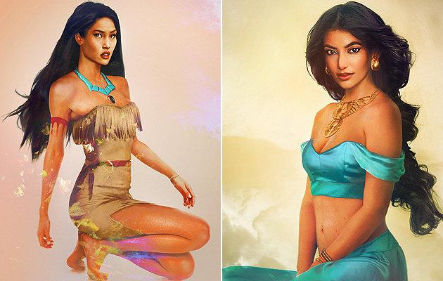 Príncipes-Pocahonta e Jasmine