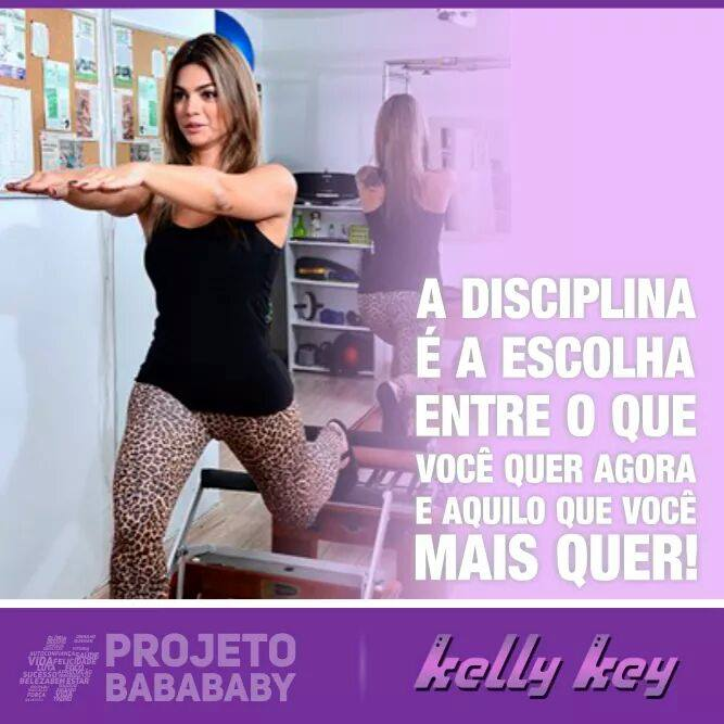 Programa Fitness Kelly Key – Projeto Baba Baby, Cardápio e Dicas