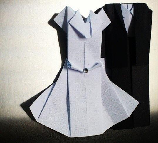 Origami-casamento-vestido