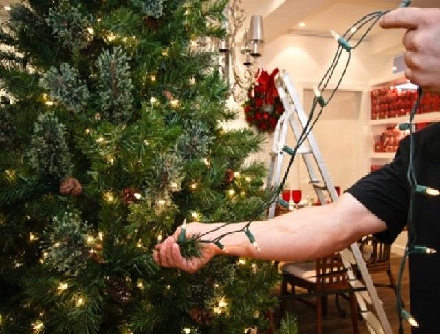 Árvore de Natal Passo luzes