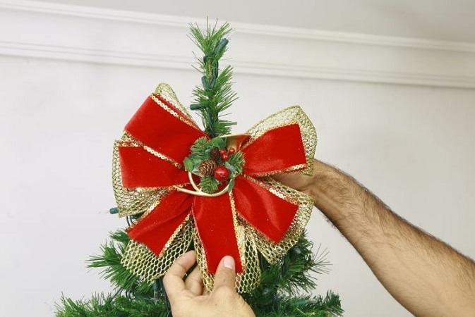 Árvore de Natal Passo ponteira