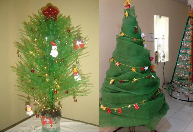 Árvores de Natal Recicladas – Dicas e Modelos