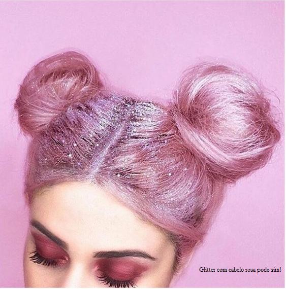 Glitter Raiz dos Cabelos Rosa
