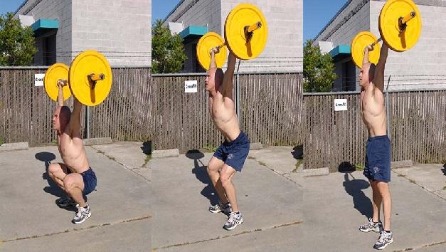 Overhead Squat exercicios