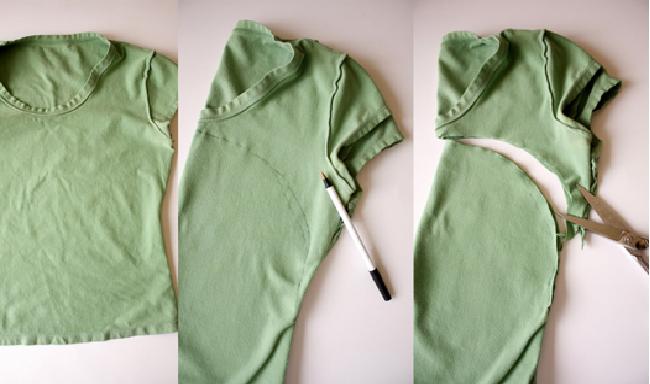 bolsa de camiseta corte