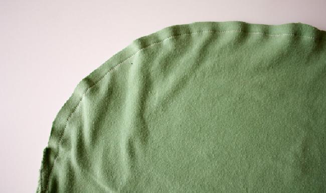 bolsa de camiseta costura