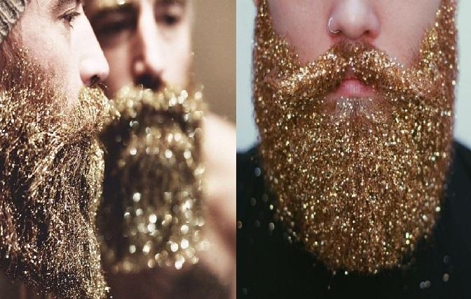Barba Com Glitter