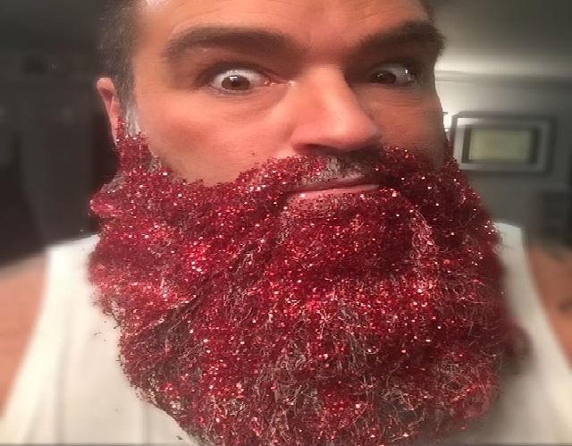 Barba Com Glitter natal