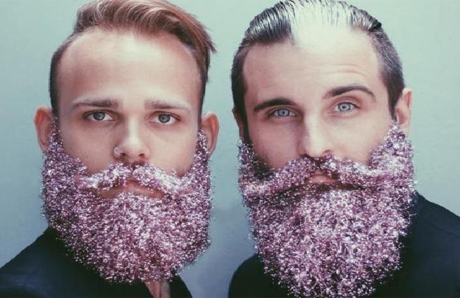 Barba Com Glitter  rosa