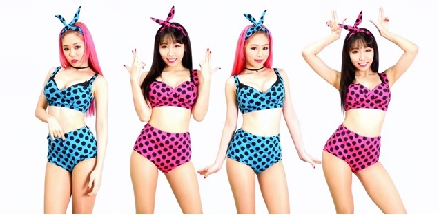 Coreanas Ari e Miu Coreografia de Bang