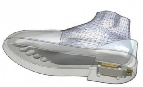 GPS nos Sapatos