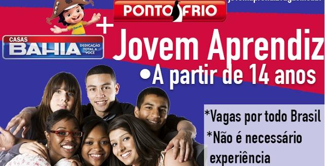 Jovem Aprendiz Casas Bahia 2016 – Como Se Inscrever