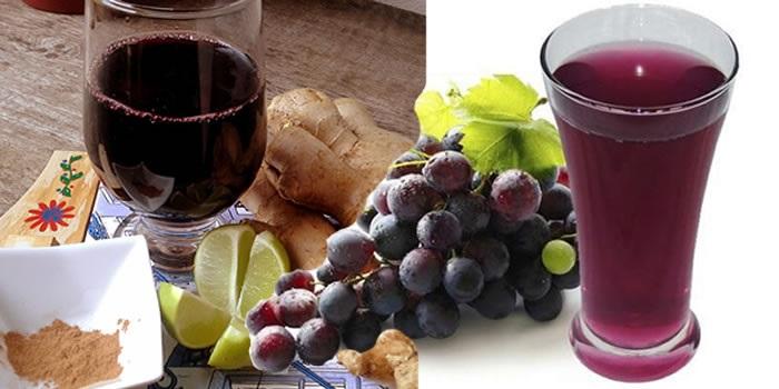 Sucos Detox Anti ressaca uvas