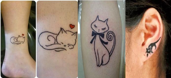 Tatuagens de Gato gatos