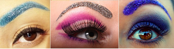 Sobrancelhas Com Glitter -