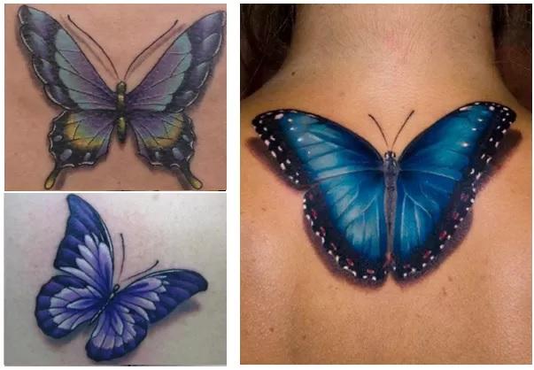 3D Tatuagens Realistas – Modelos borboleta