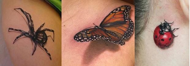 3D Tatuagens Realistas borboleta