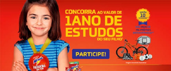 Promoção Nescau Patrocina Seu Filho - Prêmios e Como Participar
