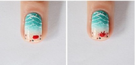 Unhas Com Tema Praia – Como Pintar Passo a Passo