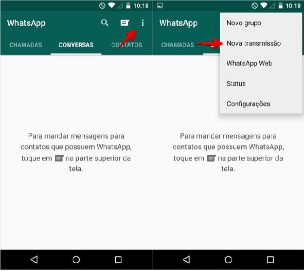 WhatsApp  -  Como Falar Com Varias Pessoas android