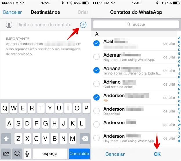 WhatsApp  -  Como Falar Com Varias ios