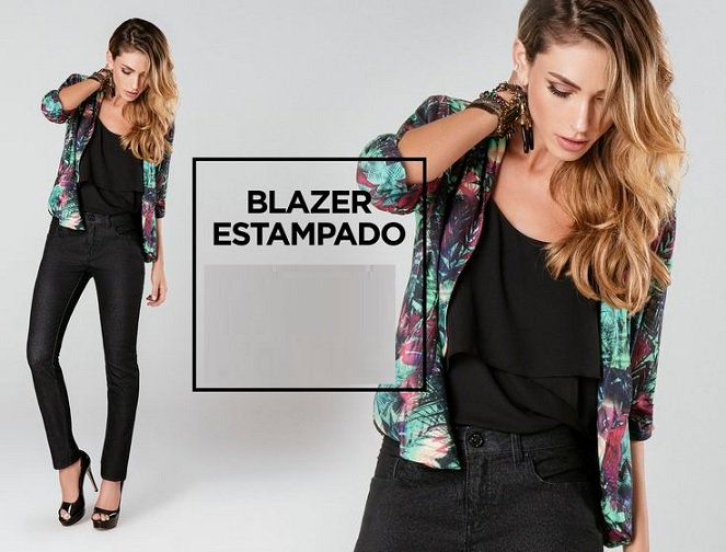 Blazer Estampado Moda 2016 - Dicas e Fotos