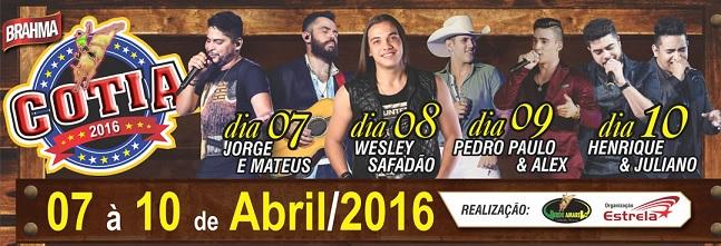 Cotia Festa do Peão 2016 – Shows e Ingressos