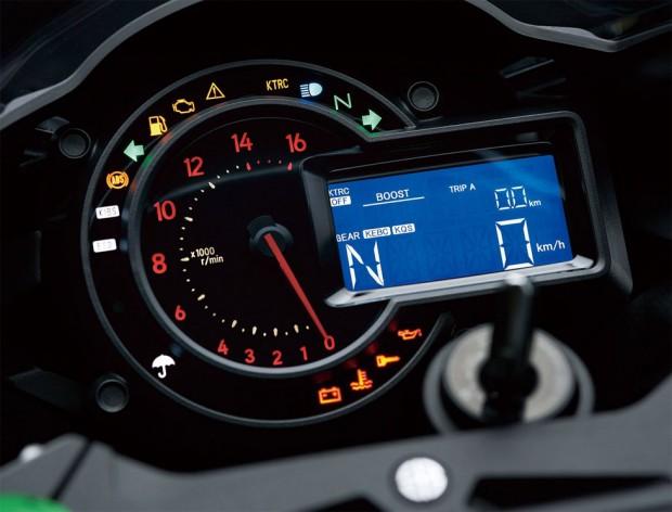 Moto Kawasaki Ninja H2 - relogio