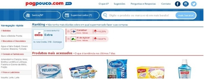 PagPouco Ajuda Economizar no Mercado - Aplicativo