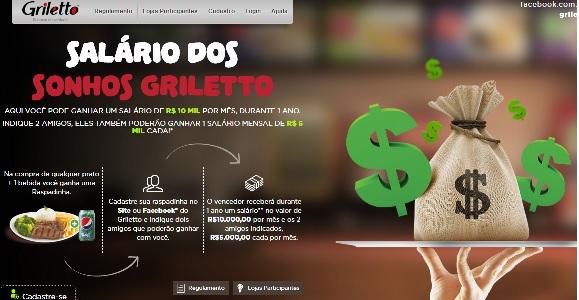 Promoção Salário dos Sonhos Griletto 2016 - Como Participar