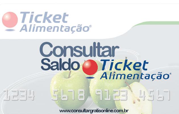 Ticket Alimentação – Consultar o Saldo