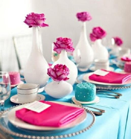 Chá de Panela Azul e Rosa - Como Decorar guardanapo