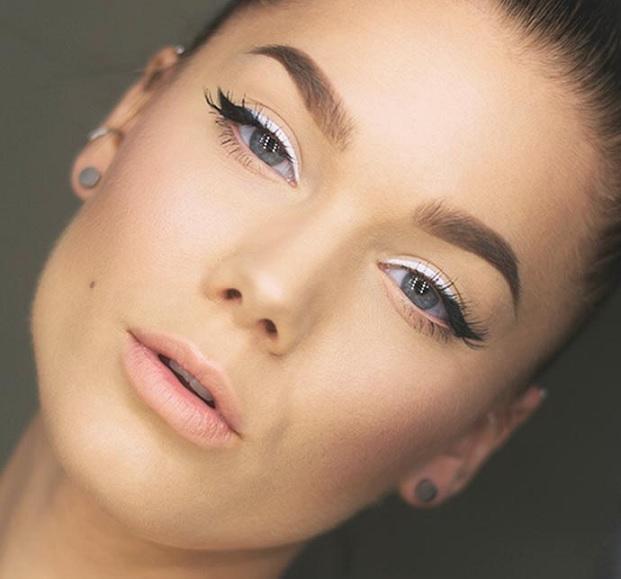 Maquiagem Com Lapis Branco -  delineador
