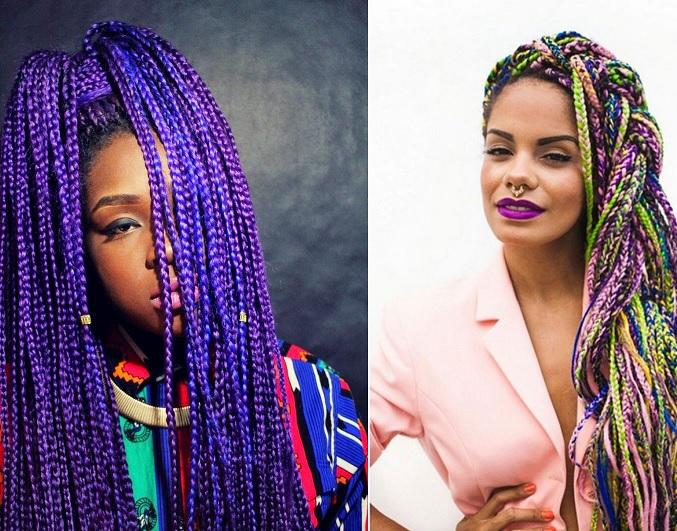 Trança Afro Coloridas - Dicas de