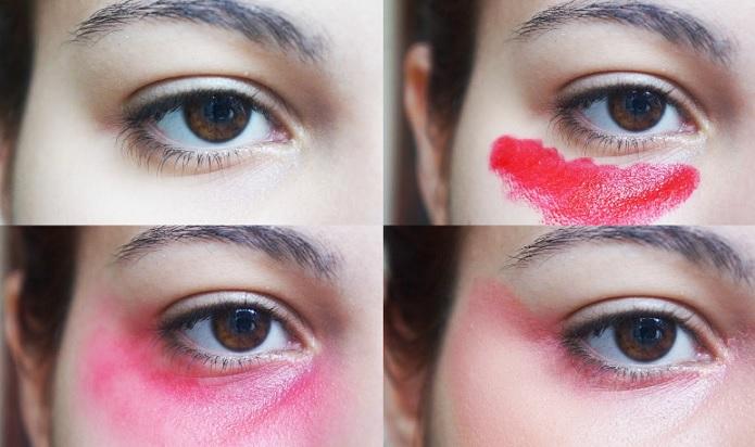 Truque Maquiagem Sandbagging  Olheiras Disfarçadas