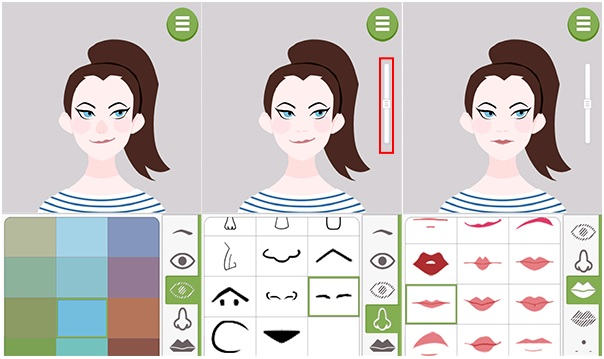 Aplicativo Doodle Face – boca
