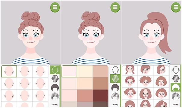 Aplicativo Doodle Face –cabelo