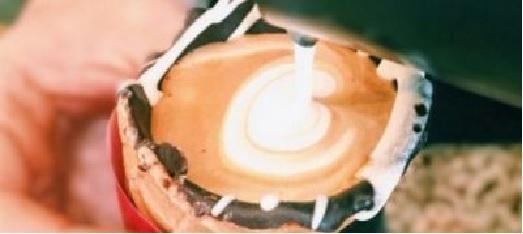 Café Servido Casquinha de Sorvete Nova Moda