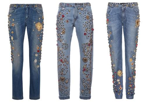 Calças Bordadas Jeans nverno