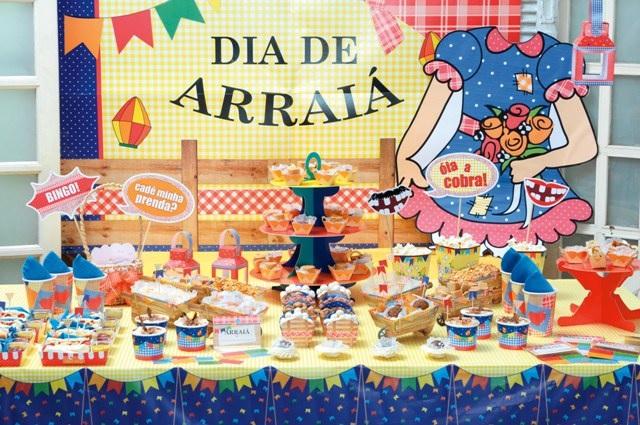 Festa Junina e Brincadeiras -mesa