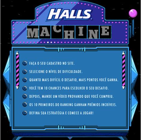 Halls Machine 2016 Promoção Como Participar
