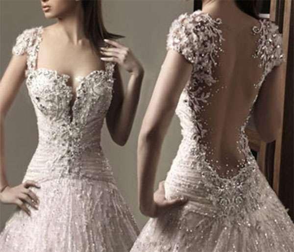 Vestido de Noiva Com Pedrarias - Dica e M