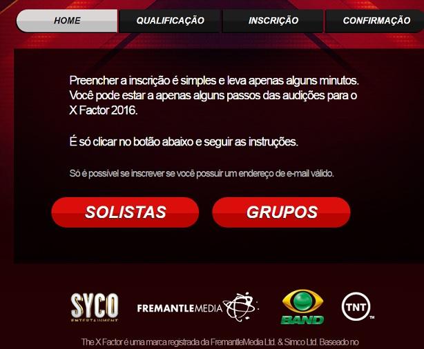 X Factor Brasil 2016 - Como Fazer Inscrições