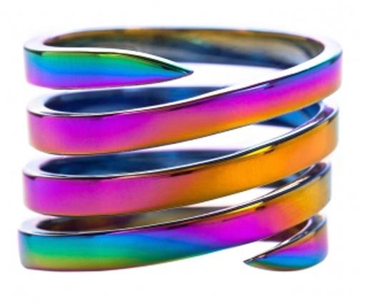 joias coloridas tendência