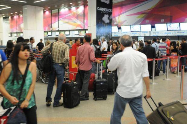 Bagagens em Viagens fila