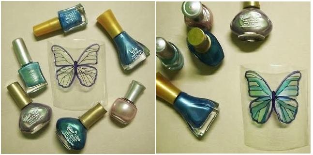 Borboleta de Garrafa Pet – cores