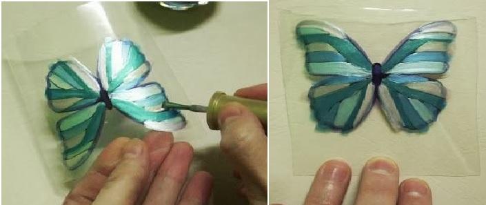 Borboleta de Garrafa Pet -pintura