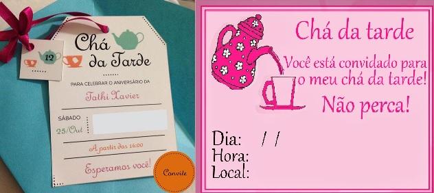 Chá da Tarde Com Amigas - Convite
