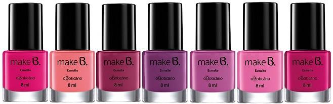Coleção Make.B Barbie Boticario -esmaltes